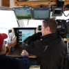 Wayne Abbott filming Fred Oliff, Canadian Hydrographic Survey, surveying Charity Shoal reef in RV Merlin   <li><em>Crispin Sadler</em></li>