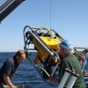 Deployment of ROV from RV David Boyd by members of the Great Lakes Historical Shipwreck Society Historical Society<li><em>Crispin Sadler</em></li>