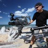Wayne Abbott using jib arm at Whitefish Point, Lake Superior<li><em>Crispin Sadler</em></li>