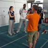 Libby Clegg and new guide runner Mikail Huggins being interviewed<li><em>Crispin Sadler</em></li>